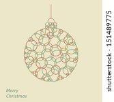 vector geometric christmas ball....   Shutterstock .eps vector #151489775