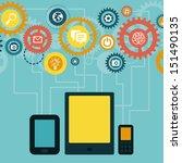 vector concept   mobile app... | Shutterstock .eps vector #151490135