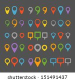 color navigation pins collection | Shutterstock .eps vector #151491437