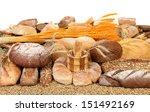 Bread composition. - stock photo