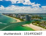 Aerial photo Miami Beach inlet between Haulover and Bal Harbour