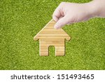 hand holding house icon made... | Shutterstock . vector #151493465