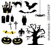 vector collection of halloween... | Shutterstock .eps vector #151494119