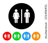 male and female restroom symbol ... | Shutterstock .eps vector #151496951