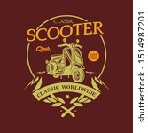 classic scooter vintage . vector | Shutterstock .eps vector #1514987201