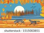 landscapes of wildlife in...   Shutterstock .eps vector #1515003851