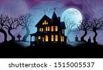 old haunted house surrounded by ... | Shutterstock .eps vector #1515005537