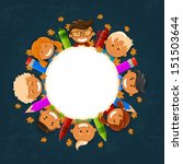 vector illustration of happy... | Shutterstock .eps vector #151503644