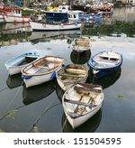 boats in mevagissey harbour in... | Shutterstock . vector #151504595