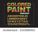 colored paint vector alphabet   ... | Shutterstock .eps vector #1515060431