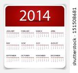 Simple 2014 Year Calendar ...