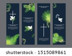 doves and plam religious... | Shutterstock .eps vector #1515089861