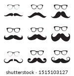 set of mustache.men beard and...   Shutterstock .eps vector #1515103127
