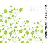 Green Leaves Background   Card...