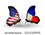 Two Butterflies With Flags On...