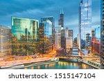 Chicago  Illinois Usa Skyline...
