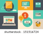 flat design vector illustration ... | Shutterstock .eps vector #151516724