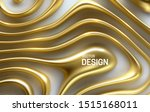 organic wavy golden stripes.... | Shutterstock .eps vector #1515168011