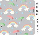 rainbows  umbrellas and... | Shutterstock .eps vector #1515218891