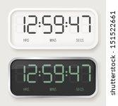 white   black digital watch | Shutterstock .eps vector #151522661