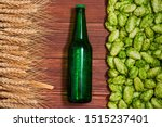 A Glass Bottle Of Beer  Green...