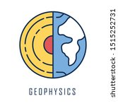 geophysics color icon. study of ... | Shutterstock .eps vector #1515252731