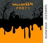 halloween party night... | Shutterstock .eps vector #151530491