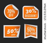 orange sales and discount... | Shutterstock .eps vector #1515313964