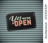 we are open sign   vintage sign ... | Shutterstock .eps vector #151531529