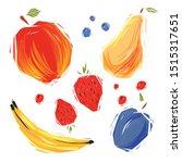 doodle eco food.vector paint...   Shutterstock .eps vector #1515317651