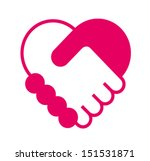 handshake in the form of heart | Shutterstock .eps vector #151531871
