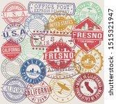 fresno california set of stamps.... | Shutterstock .eps vector #1515321947