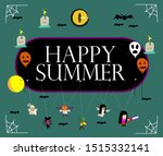 happy summer  beautiful... | Shutterstock .eps vector #1515332141