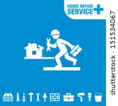 house repair service. worker... | Shutterstock .eps vector #151534067