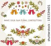 kit for making floral...   Shutterstock .eps vector #151534601