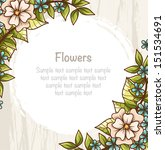 template with bright flowers...   Shutterstock .eps vector #151534691