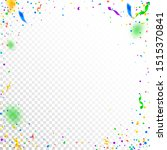 streamers and confetti.... | Shutterstock .eps vector #1515370841