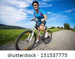 girl biking  | Shutterstock . vector #151537775