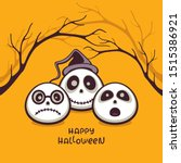 halloween vector illustration.... | Shutterstock .eps vector #1515386921