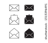 mail icon vector. envelope set...