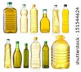 olive oil bottles isolated on...   Shutterstock . vector #151544624