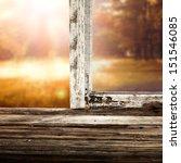 sunset and open window  | Shutterstock . vector #151546085