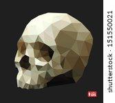 Human Skull In A Triangular...