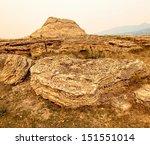 Soda Butte Rock Formation In...