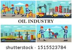 flat oil industry composition... | Shutterstock .eps vector #1515523784