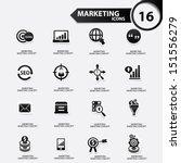 marketing icons black version... | Shutterstock .eps vector #151556279