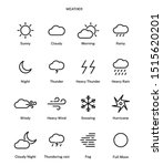 weather icon pack. climatic... | Shutterstock .eps vector #1515620201
