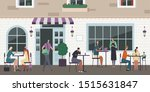 street cafe composition with... | Shutterstock .eps vector #1515631847