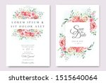 wedding invitation card with... | Shutterstock .eps vector #1515640064
