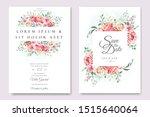 beautiful hand drawn roses... | Shutterstock .eps vector #1515640064